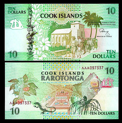 Cook Islands 10 dollars 1992
