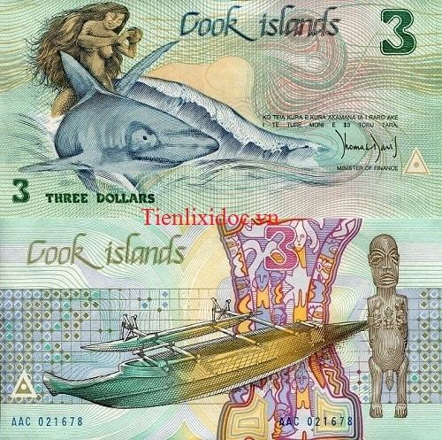 Cook Islands 3 dollars