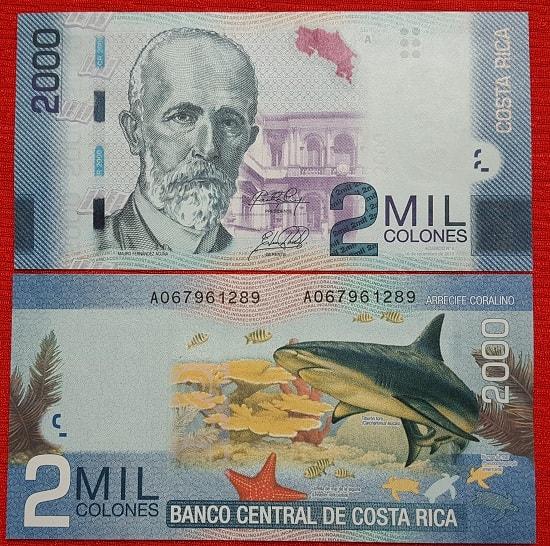 Costarica 2000 colones
