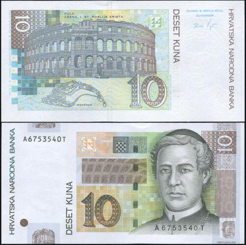 Croatia 10 kuna 2012