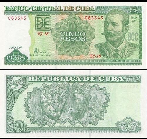 Cuba 5 pesos 2003