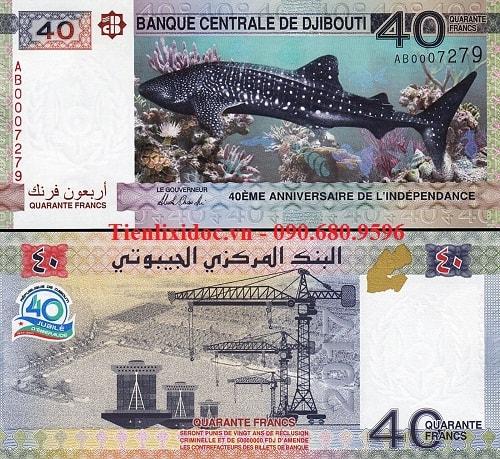 Djibouti 40 quarante francs