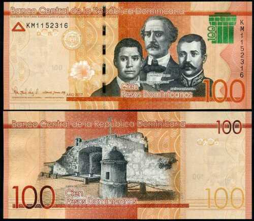Dominican 100 pesos 2017