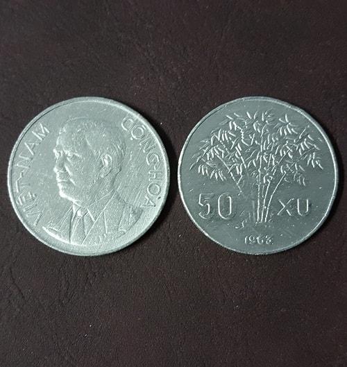 Đồng 50 Xu Ông Diệm 1963