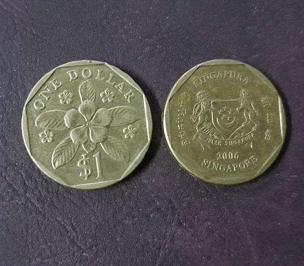 Đồng Xu 1 Đô La Của Singapore - Top 10 Đồng Xu May Mắn Nhất Thế Giới