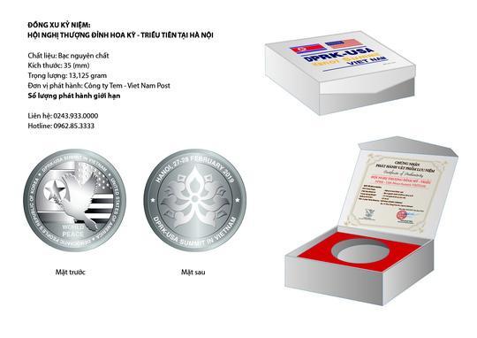 Đồng Xu Bạc Kỷ Niệm Hội Nghị Thượng Đỉnh Mỹ - Triều