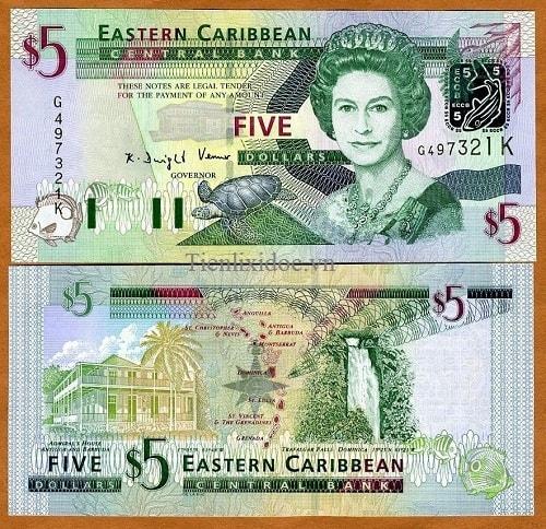East Caribean 5 dollars 2003