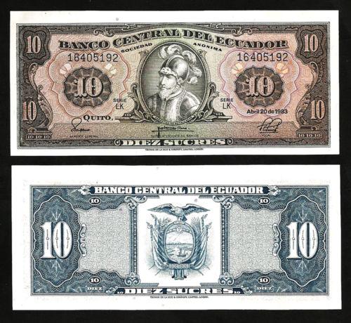 Ecuador 10 sucres 1983