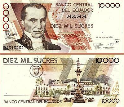 Ecuador 10.000 sucres 1999