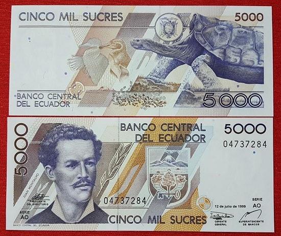 Ecuador 5000 sucres