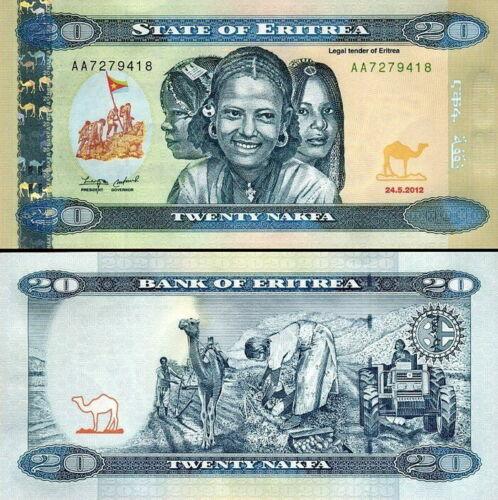 Eritrea 20 nakfa 2014