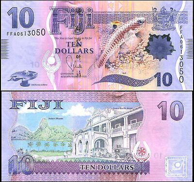 Fiji 10 dollars 2013