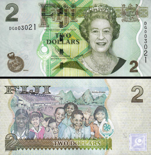 Fiji 2 dollars 2011