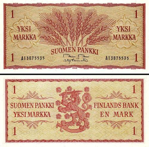 Finland 1 markka 1963