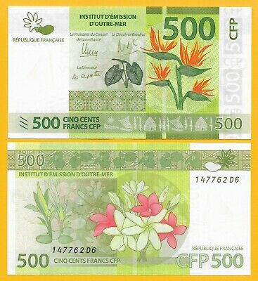 French Pacific 500 Francs 2014