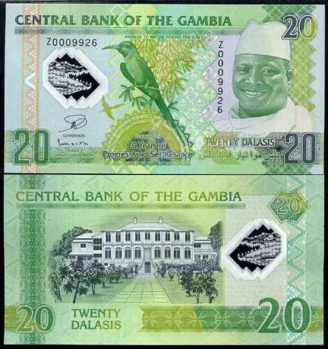 Gambia 20 dalasis 2014 polymer