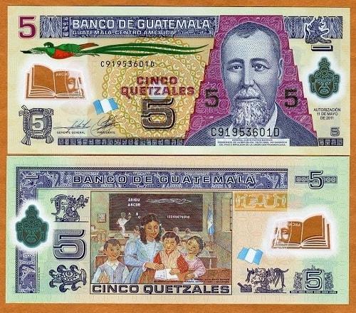 Guatamala 5 quetzales