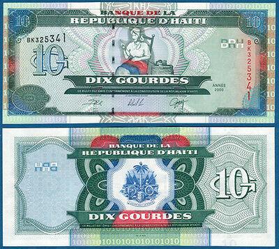 Haiti 10 gourdes 2000