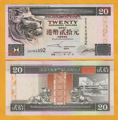 Hong Kong 20 dollars 2002