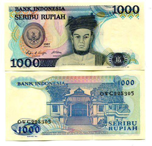 Indonesia 1000 rupiah 1987