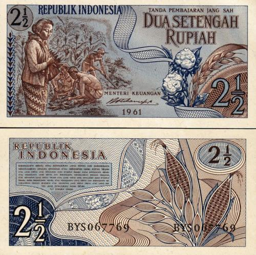Indonesia 2 1/2 rupiah 1961