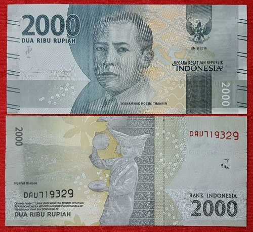 Indonesia 2000 rupiah