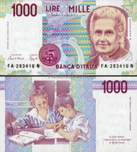Italia 1000 lire 1990