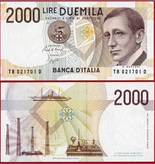Italia 2000 lire 1992