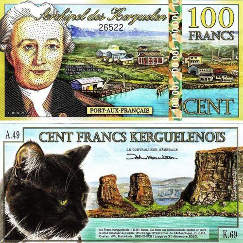 Kerguelen 100 francs 2012