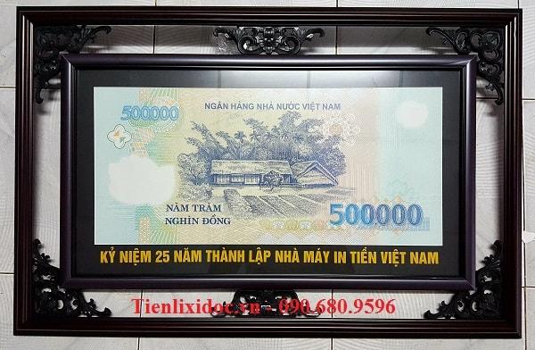 Khung Tranh Tiền 500 Ngàn Khổ Lớn Cực Độc
