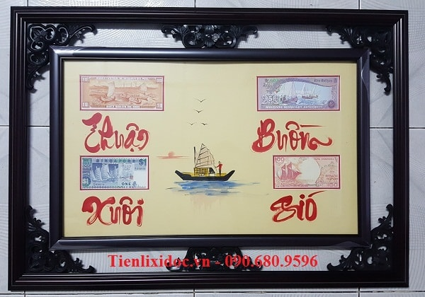 Khung Tranh Tiền Thuận Buồm Xuôi Gió