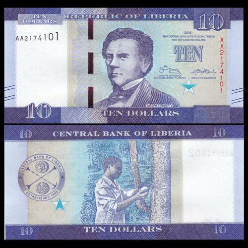 Liberia 10 dollars 2016