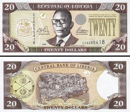 Liberia 20 dollars 2003