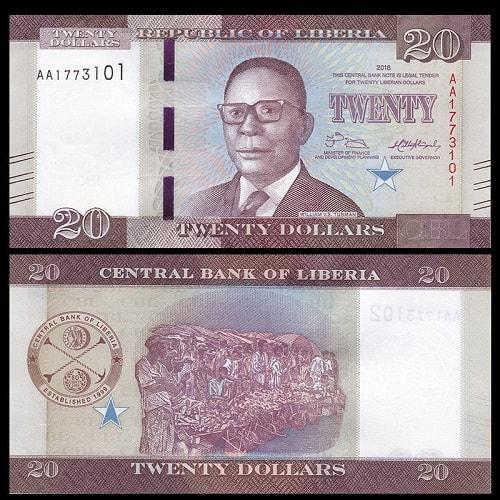 Liberia 20 dollars