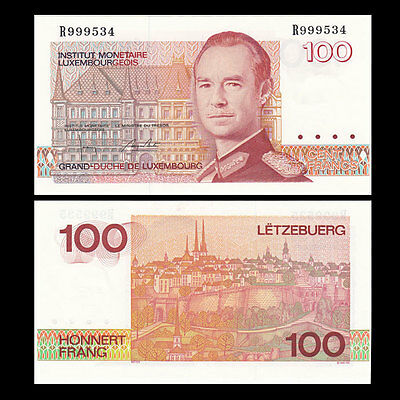 Luxembourg 100 francs 1993