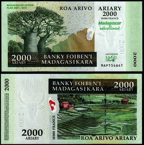 Madagascar 2000 ariary 2007