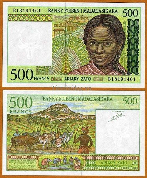 Madagascar 500 francs 1994