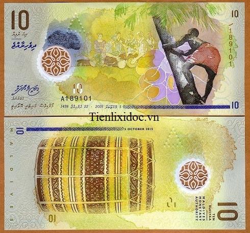 Maldives 10 rufiyaa - polymer