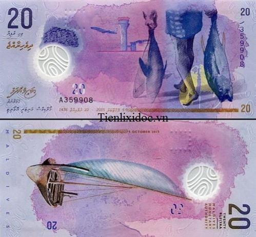 Maldives 20 rufiyaa - polymer