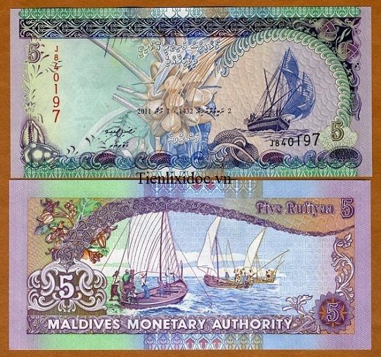 Maldives 5 rufiyaa - Tiền Thuận Buồm Xuôi Gió
