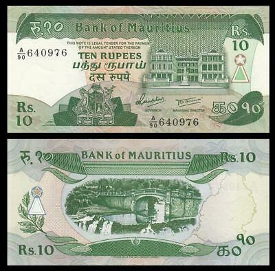 Mauritius 10 rupees 1985