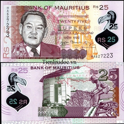 Mauritius 25 rupees - polymer