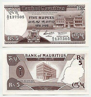 Mauritius 5 rupees 1985