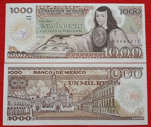 Mexico 1000 pesos 1985