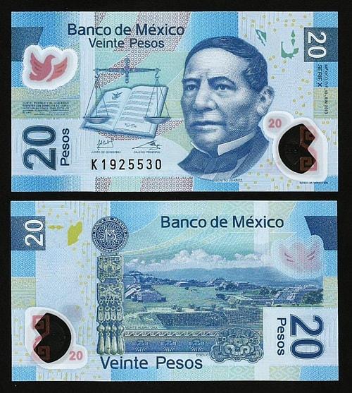 Mexico 20 pesos (polymer)