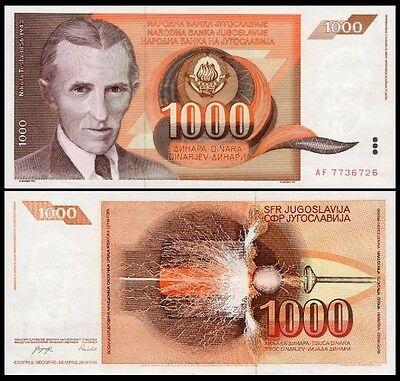 Nam Tư 1000 dinars 1990