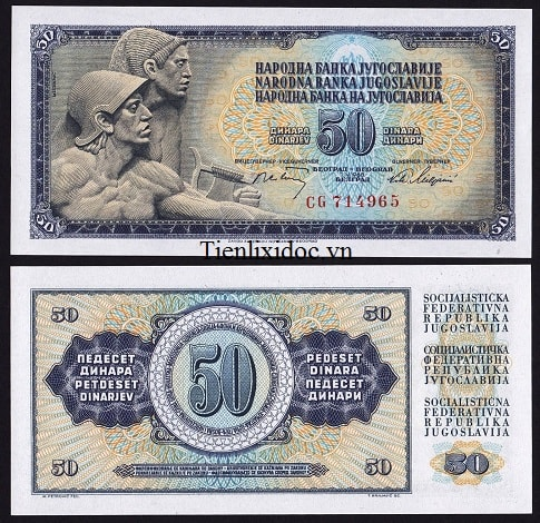 Nam Tư 50 Dinar