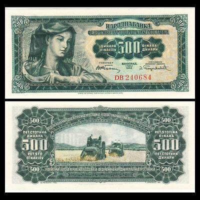 Nam Tư 500 dinars 1955