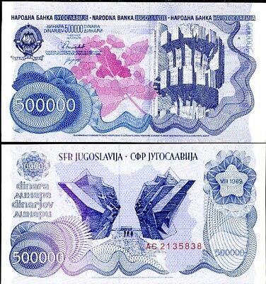 Nam Tư 500.000 dinars 1989