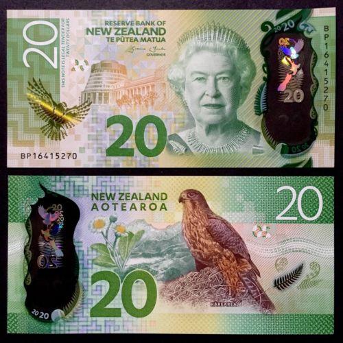 New Zealand 20 dollars 2016 polymer
